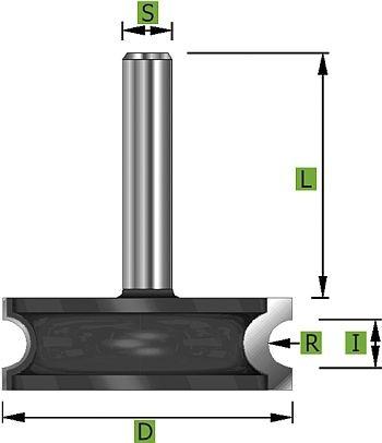 Rundfräser Konvex Ø38,1 mm