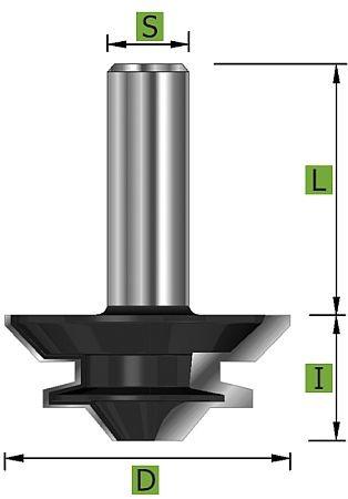 Gehrungs Verleimfräser Ø44,45 mm