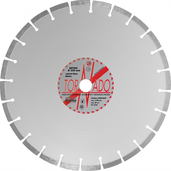 Tornado Beton Diamant Trennscheibe Ø 350 mm