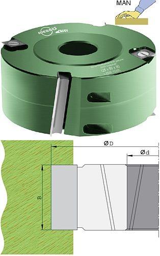 Wendeplatten Falzmesserkopf ziehender Schnitt Ø125 mm