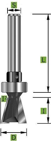 Gratfräser mit Schaft-Kugellager Ø12,0 mm