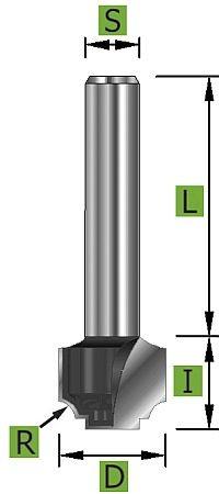 Nutenprofilfräser Ø12,7 mm