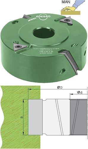 Wechselplatten Falzmesserkopf gleichseitiger Achswinkel Ø125 mm