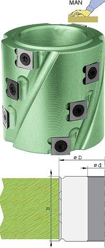 Wendeplatten Spiralfügemesserkopf Ø80 mm