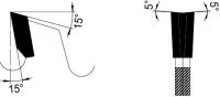 Vorritzer-Wechselzahn-zweiteilig