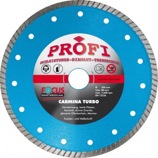 Profi Carmina Diamant Trennscheibe Ø 125 mm