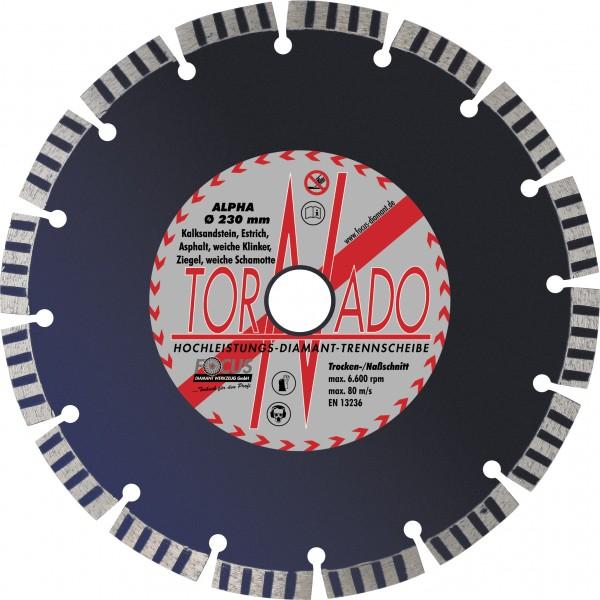 Tornado Alpha Diamant-Trennscheibe Ø 180 mm