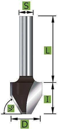 Schriftenfräser Z2 60° Ø15,1 mm