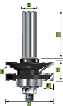 Profil- und Konterprofilfräser Typ 'C' D 41 mm Schaft 12 mm