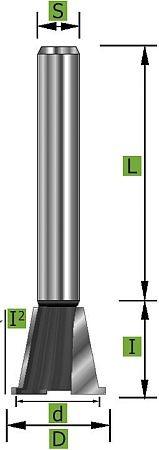 Zinkenfräser Ø14,3 mm