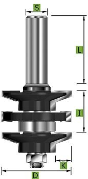 Profil-Konterprofilgarnitur Typ 'A' D 41 mm Schaft 8 mm