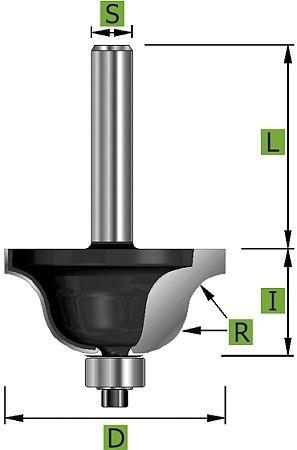 Römischer Profilfräser Ø43,0 mm