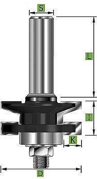 Profil- und Konterprofilfräser Typ 'A' D 41 mm Schaft 8 mm