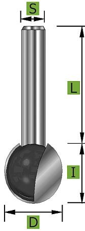 Kugelfräser Ø12,7 mm