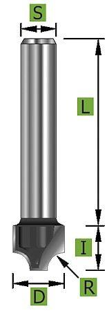 Viertelstabfräser Ø21,0mm