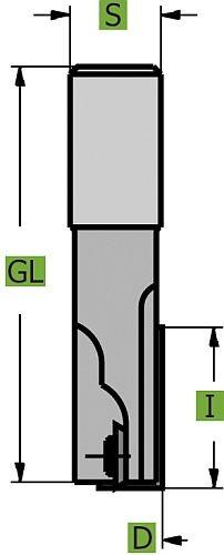 WPL Nutfräser Z1+1 Ø20,0 mm