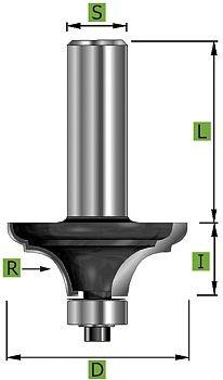 Duo-Radien-Karnisfräser Ø38,1mm