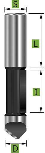 HM-Ausstechfräser 6,35 mm