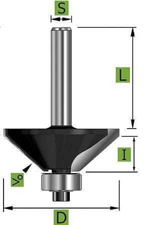 Edessö Holz Fase-Fräser 45° Ø28,6 mm