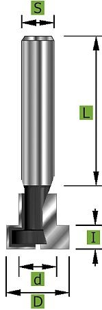 T-Nutfräser Ø12,7 mm