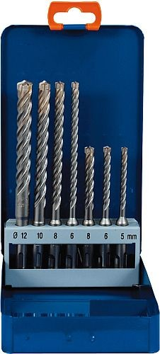 Set Hammerbohrer ZENTRO 4x4 7-tlg.