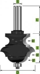 Multiprofilfräser mit oberem Radius, Ø31,8 mm