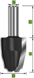 HM Abplattfräser vertikal 12° schräg