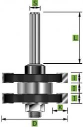 Nut- und Federgarnitur Ø41 mm