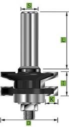 Profil- und Konterprofilfräser Typ 'A' D 41 mm Schaft 12 mm