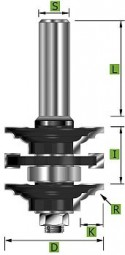 Profil-Konterprofilgarnitur Typ 'C' D 41 mm Schaft 8 mm