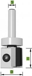 WPL Nutfräser mit Schaft-Kugellager Ø22,0 mm