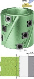 Wendeplatten Spiralfügemesserkopf Ø62 mm