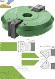 Wendeplatten Schwenkmesserkopf mit Getriebe Ø160 mm