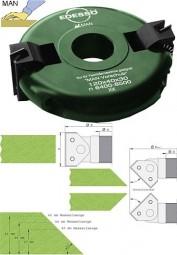 Wendeplatten Schwenkmesserkopf mit Raster Ø120 mm