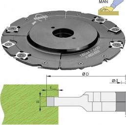 Wendeplatten Verstellnuter Ø160 mm