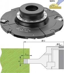 Wendeplatten Verstellnuter mit Gewindbüchse Ø180 mm