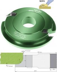 Wechselplatten Multi-Viertelstabfräser Ø120 mm